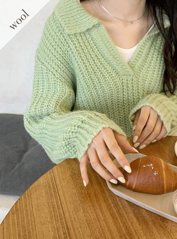 Fogny Wool Collar Knitwear 針織衫