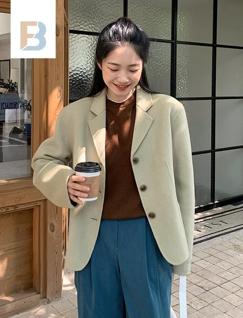 3 button single handmade jacket