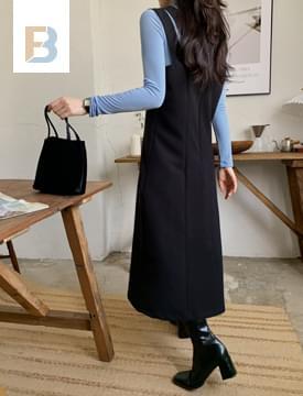Double Strap Bustier Long Dress