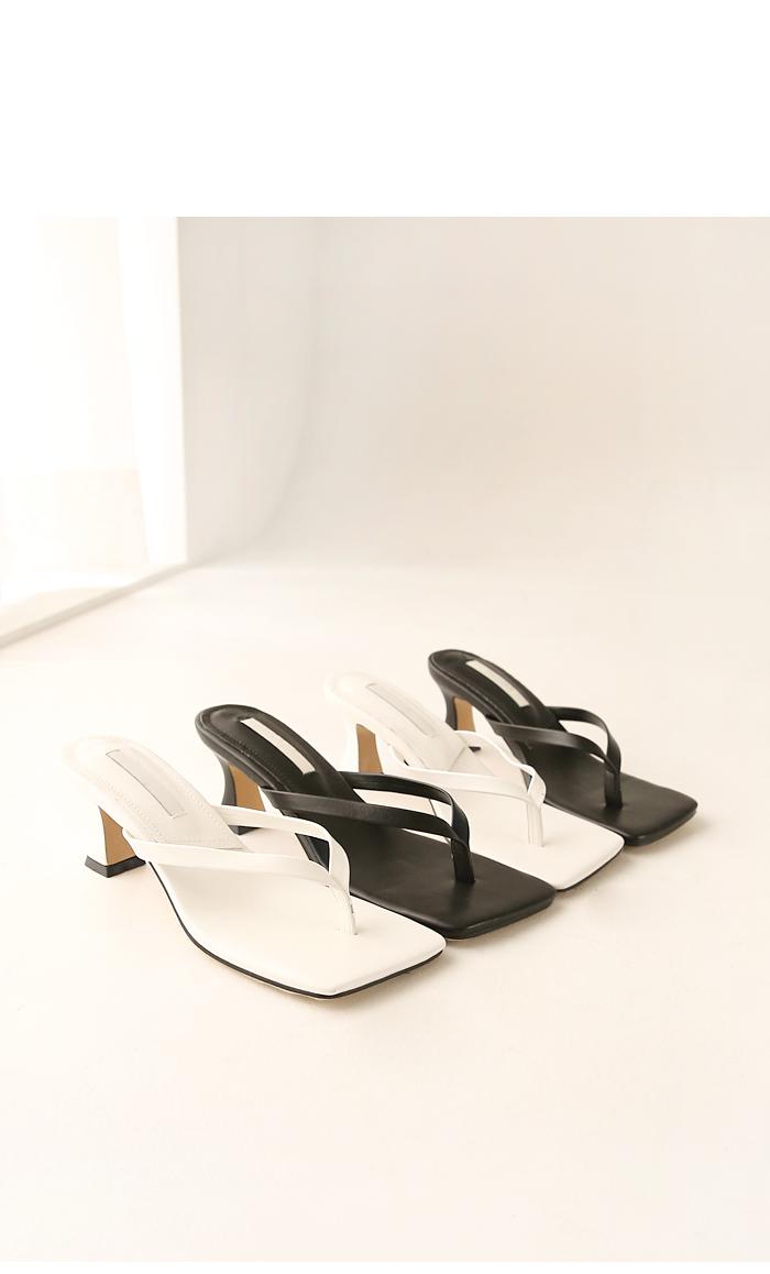 Square Toe Slim Strap Heels