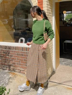 Monica Pintuck Check Skirt