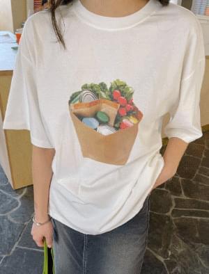 Fruit Overfit Printed Short Sleeve Tee