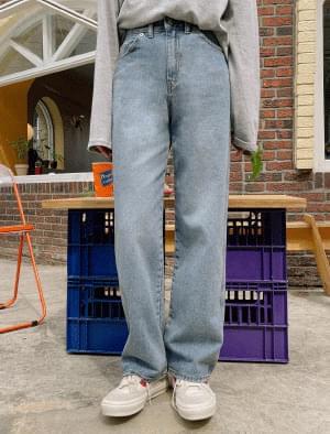 Dion wide denim pants