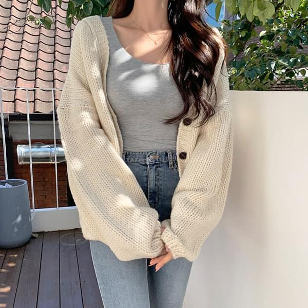 Melted mohair Loose-fit cardigan