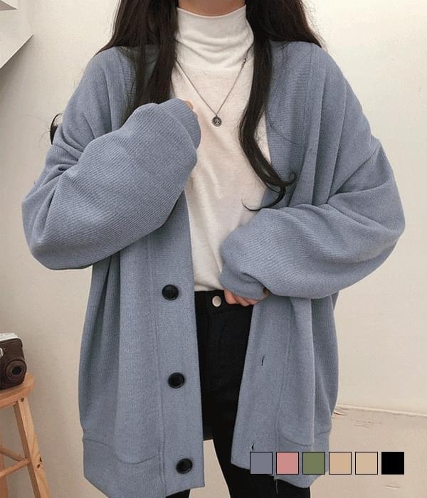 polished overfit cardigan