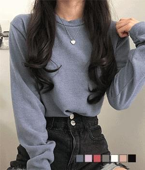 Solashi Daily Plain Knitwear T-shirt
