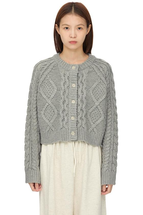 Grand Twist Wool Knitwear Cardigan