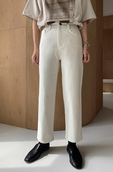 Autumn Cotton Straight Pants