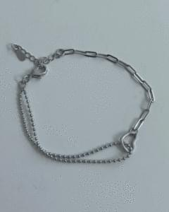 heart mix chain bracelet