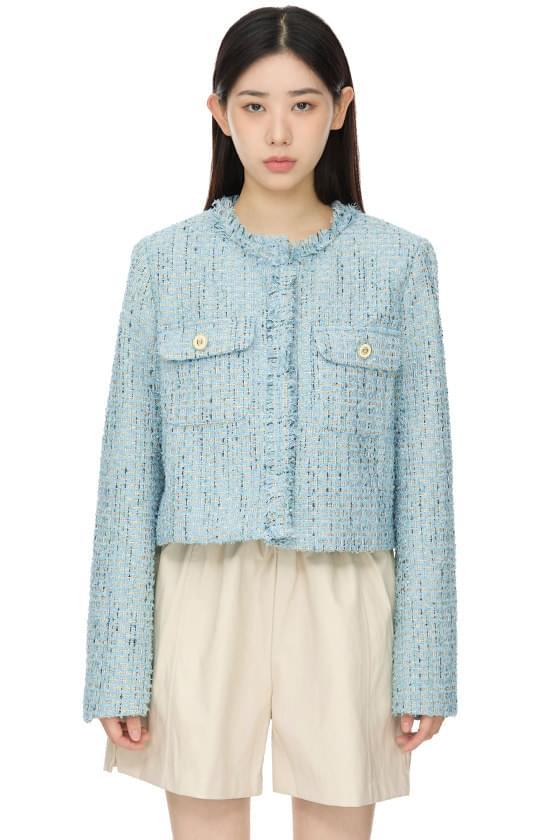 럭키 크롭 트위드 재킷
