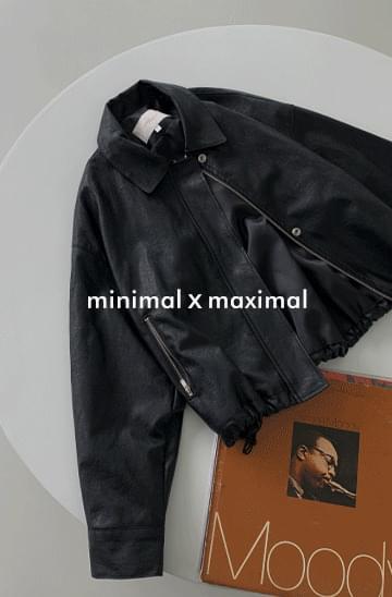 MMMM string leather blouson Jacket