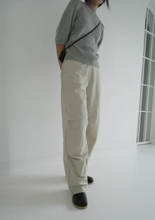dried texture shirring pants