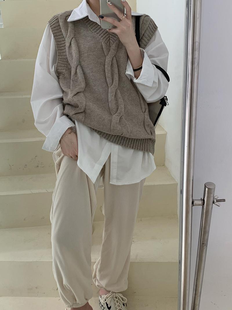 vt6226 Pozne Twisted Knitwear Vest