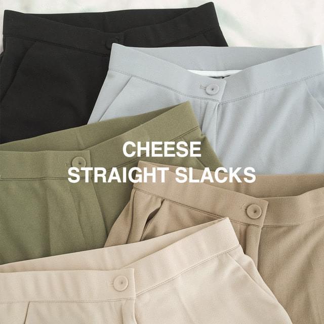 Big 26-36 Inch Autumn Cheese High Waist Straight Slacks