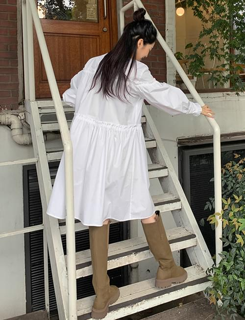 mini ruffle shirring cancan Dress