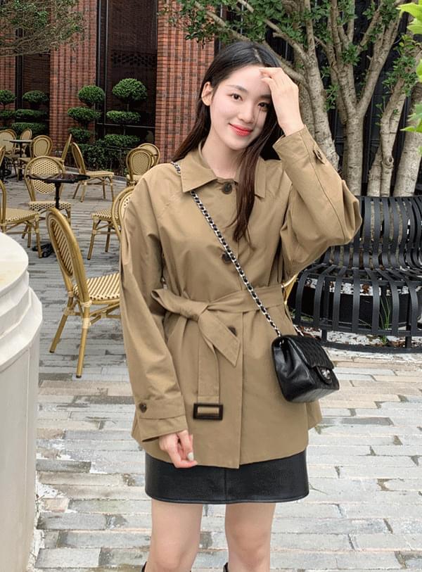 pocket leather mini skirt 裙子