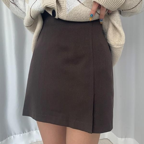 Kani side slit banding skirt