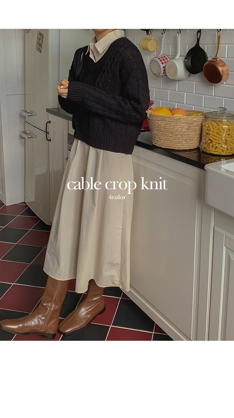Fisher Cable Crop Knitwear
