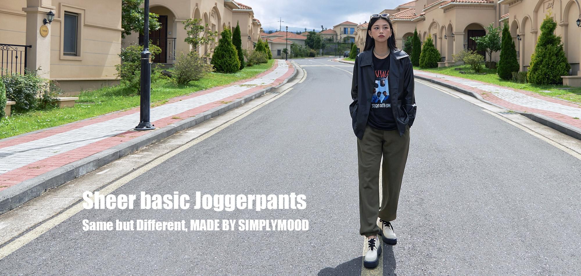 Sheer Basic Jogger Pants