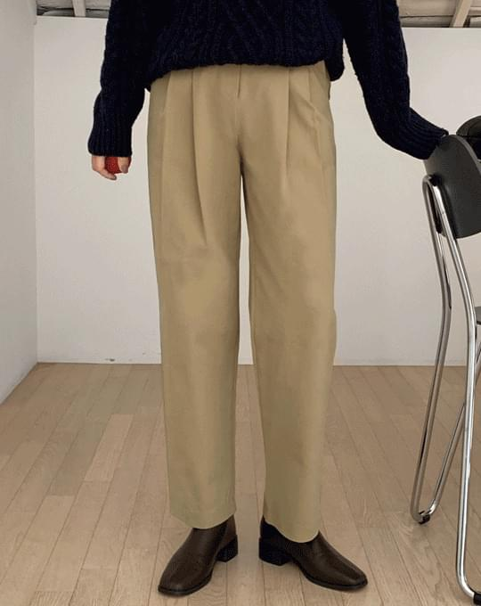 ON Pintuck Wide Cotton Pants - 4 color
