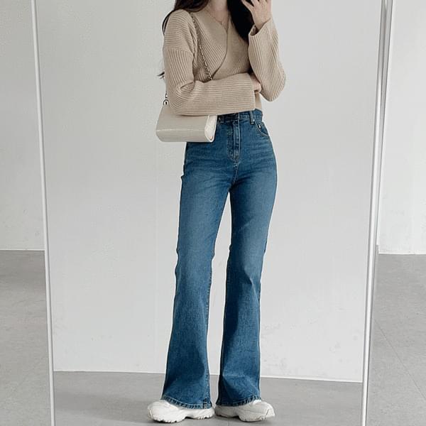 Dark Blue Flared pants