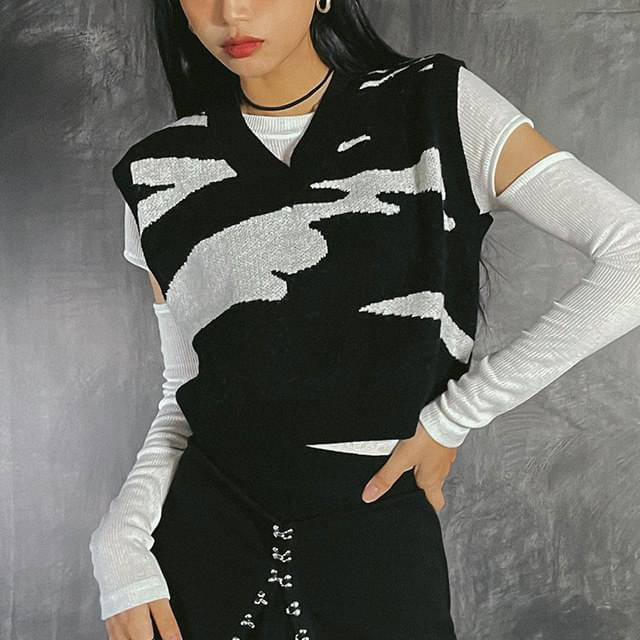 Crop Lowden Knitwear Vest