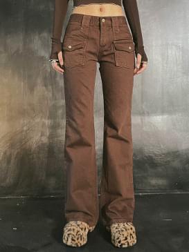 pocket ranny Flared trousers