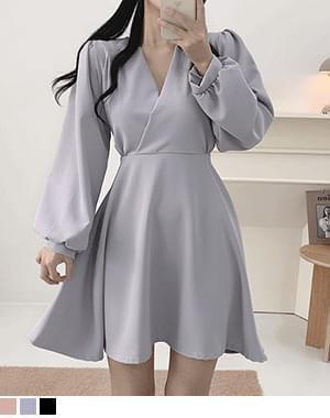 Pika V-Neck A-line Dress