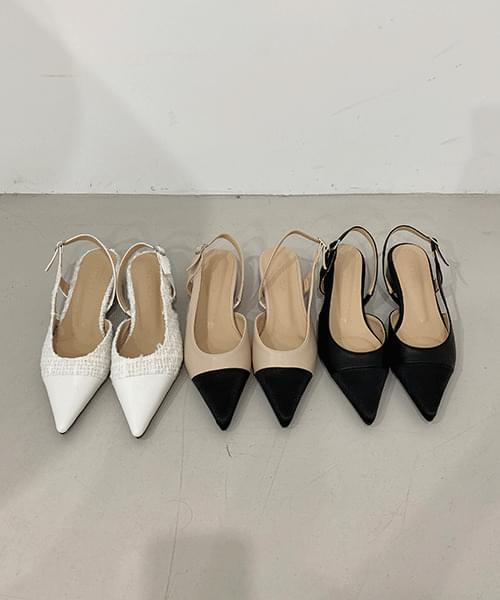 23 Slingback Shoes - 3color