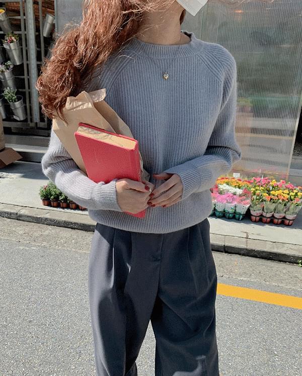 #Any place Rudy Simple Raglan Knitwear