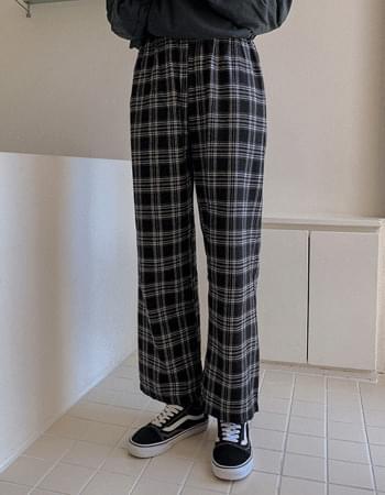 checkered plaid pants