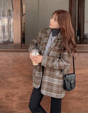 Scottish Tartan Wool Check Jacket