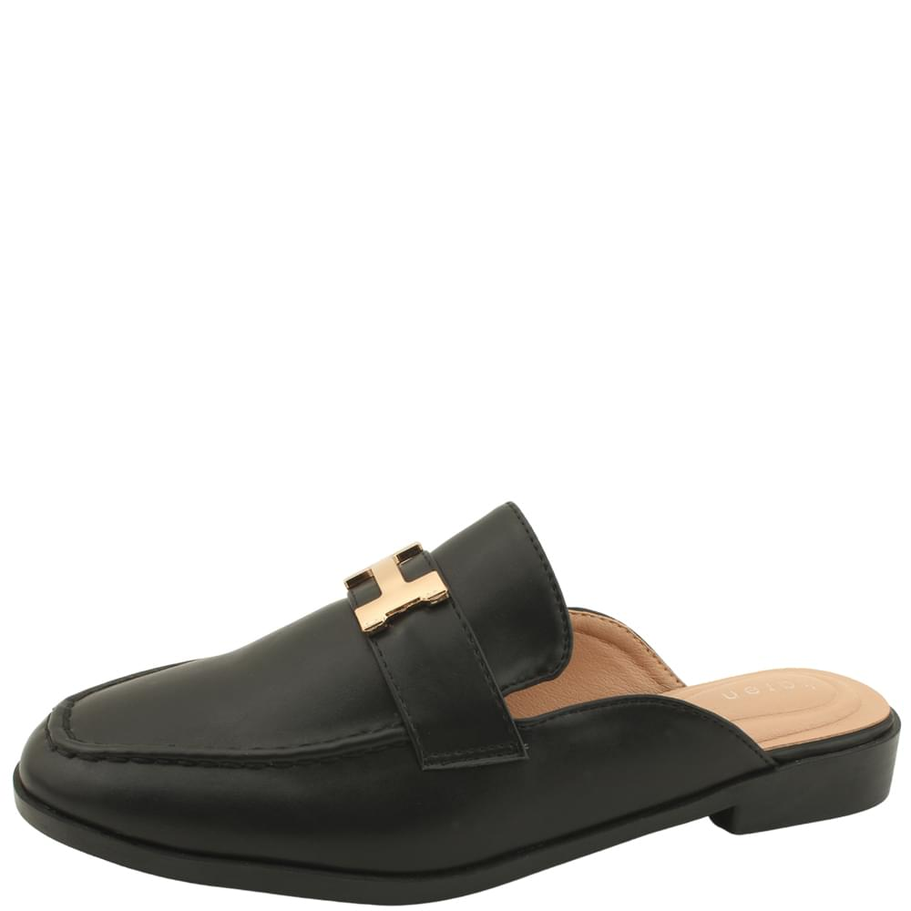 Modern Low Heel Mule Blower Black