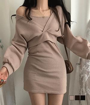 Loira Dress Crop Knitwear Two Piece Set