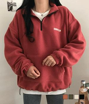 Fleece Sandy Half-zipped Anorak Sweatshirt