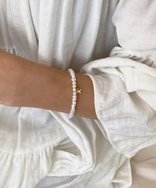 pearl initial bracelet