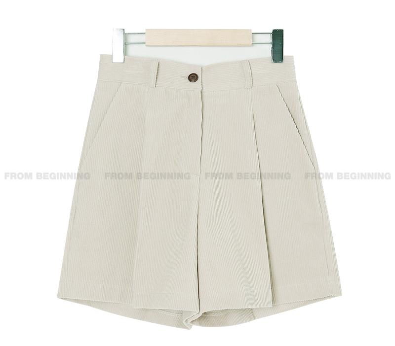 Modern Corduroy Pintuck Half Pants