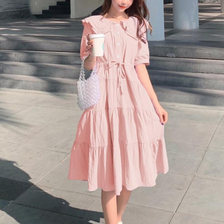 A-line Daily Cotton Dress