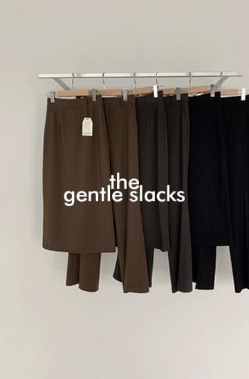 GENTLE active SLACKSver.21FW leggings straight