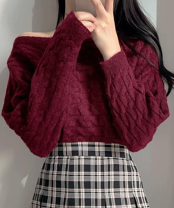 Yeori Line Twisted Knitwear 4color