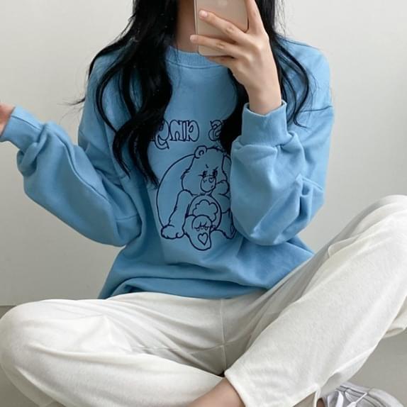アングリーベアスウェットシャツT刺繍ポイント:D