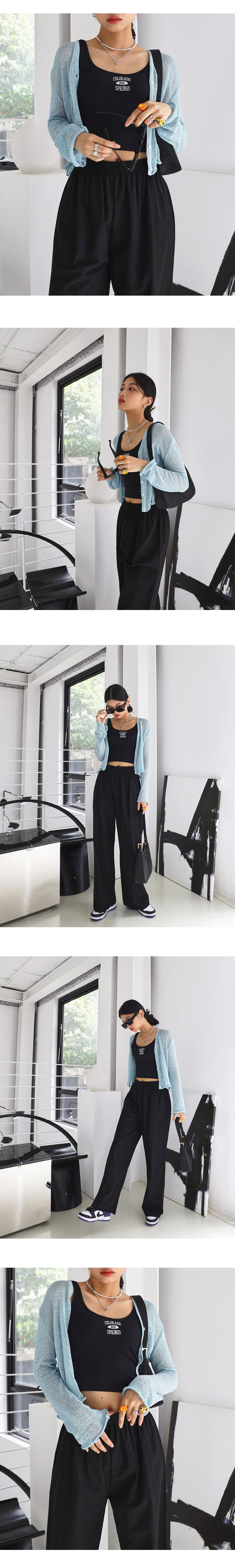 Summer Crop Knitwear Cardigan