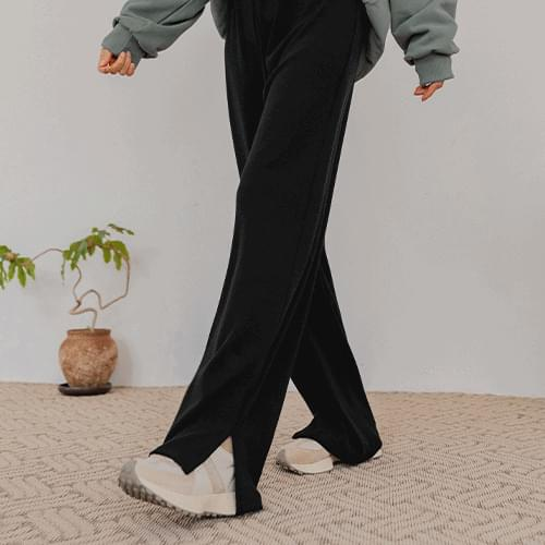 Donna Wide Split Knitwear Trousers