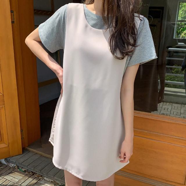 Sleeveless flare mini dress