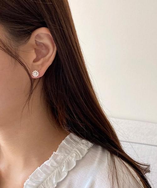 sparkle pearl earring