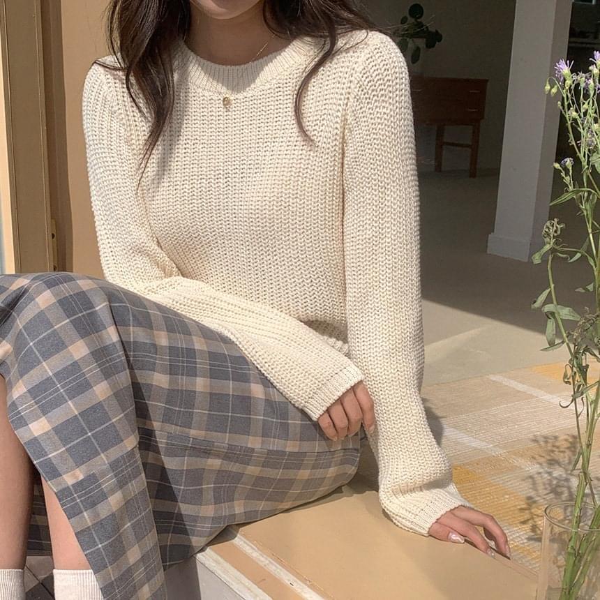 Round Crop Hatch Knitwear 針織衫