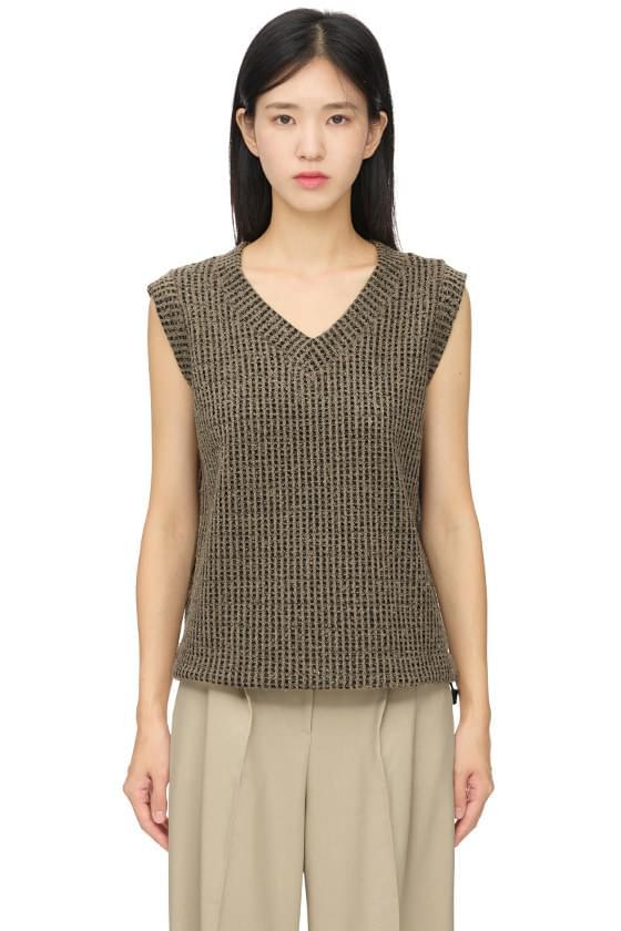 pole pattern string vest