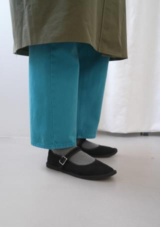 suede mary-jane shoes