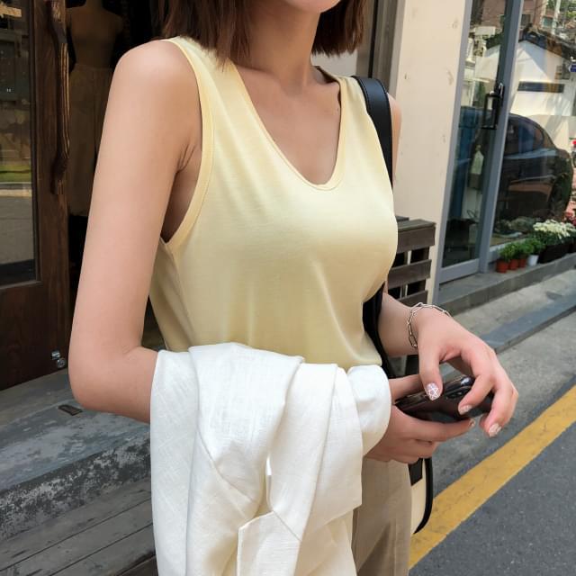 U neck modal sleeveless