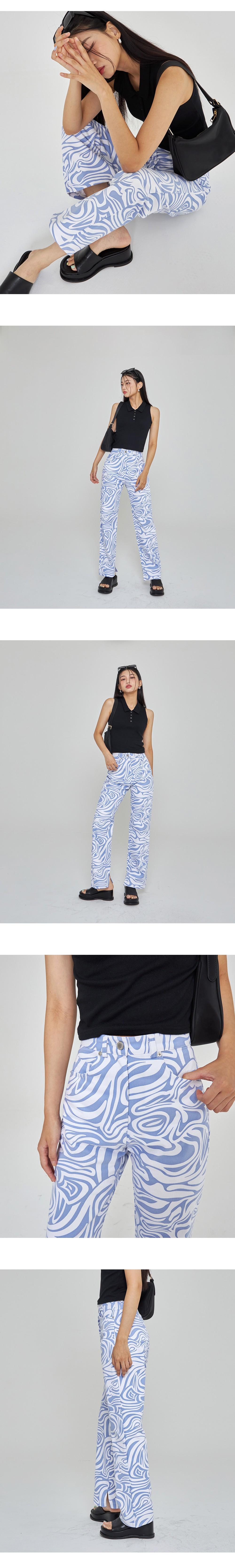 wavy cotton trousers